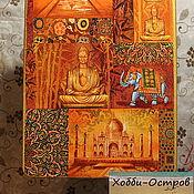 Для дома и интерьера ручной работы. Ярмарка Мастеров - ручная работа Доска разделочная Индия, декупаж. Handmade.