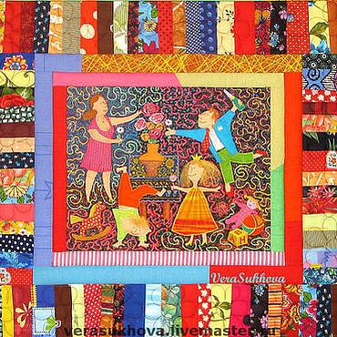 """Для дома и интерьера ручной работы. Ярмарка Мастеров - ручная работа Лоскутный комплект """"Весёлая семейка"""". Handmade."""