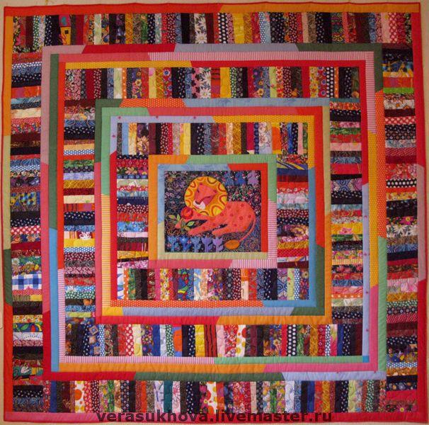 Home Textiles & Carpets handmade. Livemaster - handmade. Buy 'The lion and the rose' blanket 220х220см.Quilt