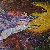 """Картины и панно ручной работы. Ярмарка Мастеров - ручная работа картина """"Сказка"""". Handmade."""