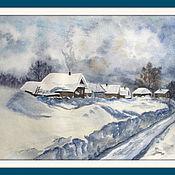 Картины и панно ручной работы. Ярмарка Мастеров - ручная работа Зимний день. Handmade.