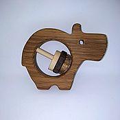 Куклы и игрушки handmade. Livemaster - original item Wooden rattle Hippo Makar. Handmade.