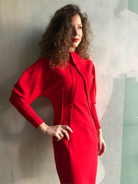 Платье 2040 джерси красное, Платья, Киев,  Фото №1
