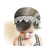 Работы для детей, ручной работы. Ярмарка Мастеров - ручная работа Аксессуар для волос. Блестящие сердца. Handmade.