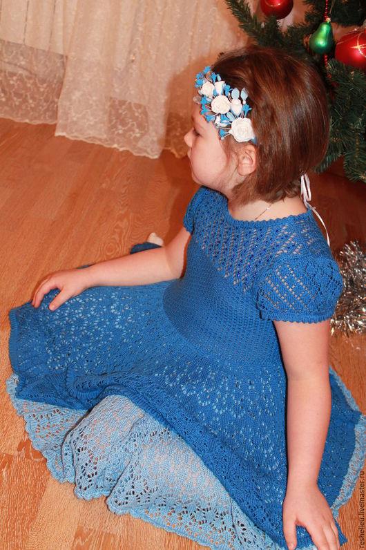 Одежда для девочек, ручной работы. Ярмарка Мастеров - ручная работа. Купить Платье №72 вязаное для девочки. Handmade. Платье нарядное