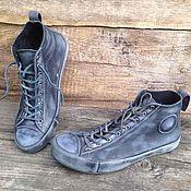 Обувь ручной работы. Ярмарка Мастеров - ручная работа Кеды кожаные 1916. Handmade.