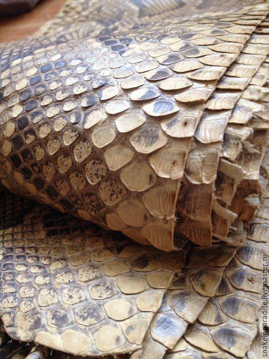 Шитье ручной работы. Ярмарка Мастеров - ручная работа. Купить Отрезы кожи питона Африка. Handmade. Кожа натуральная