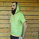 """Для мужчин, ручной работы. Мужская льняна рубаха """"Зелёный коктейль"""". РаСвет. Ярмарка Мастеров. Рубаха с вышивкой, подарок мужчине"""