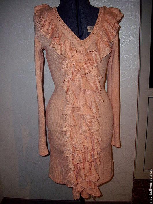 Платья ручной работы. Ярмарка Мастеров - ручная работа. Купить Платье- 002. Handmade. Оранжевый, рюши, шерсть