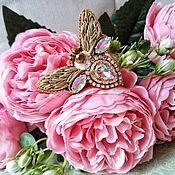 Украшения handmade. Livemaster - original item Brooch Bee Brooch Moth. Handmade.