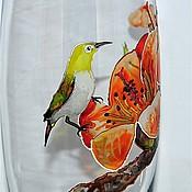 """Для дома и интерьера ручной работы. Ярмарка Мастеров - ручная работа Ваза """"Из жизни маленькой птички"""". Handmade."""