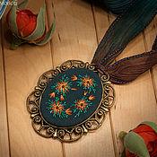 Украшения handmade. Livemaster - original item Embroidered pendant Calendi. Handmade.