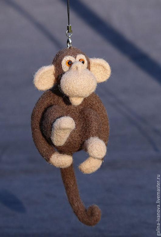 Игрушки животные, ручной работы. Ярмарка Мастеров - ручная работа. Купить Год обезьяны. Игрушка из шерсти. Фелтинг. Handmade. Коричневый