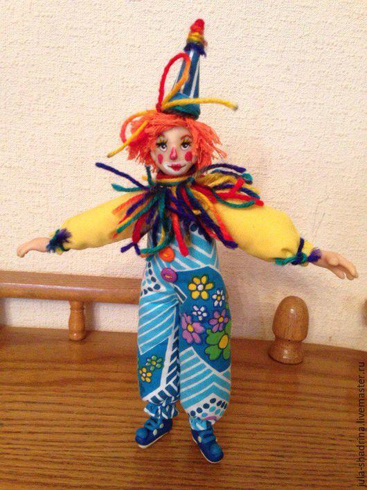 Коллекционные куклы ручной работы. Ярмарка Мастеров - ручная работа. Купить Клоун. Handmade. Синий, коллекционная кукла, авторская кукла