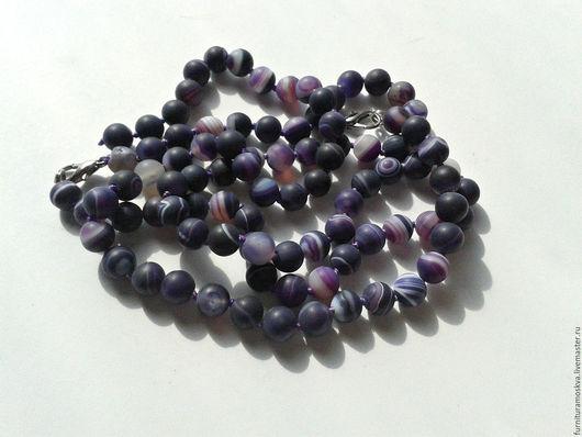 Агат фиолетовый 8 мм,матовый  7 руб/шт