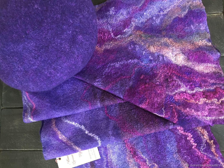 Валяный шарф из шерсти, Шарфы, Владивосток,  Фото №1