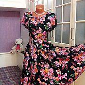 Одежда ручной работы. Ярмарка Мастеров - ручная работа Штапельное платье миди Верона. Handmade.