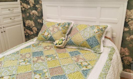 Текстиль, ковры ручной работы. Ярмарка Мастеров - ручная работа. Купить Покрывало на кровать в спальню IBIZA, лоскутное одеяло. Handmade.