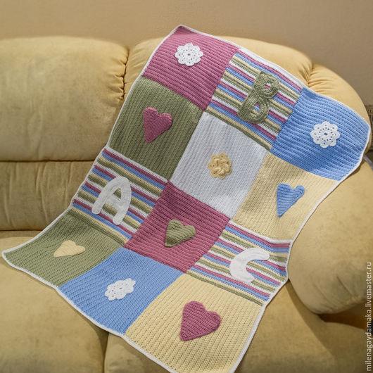 """Аксессуары для колясок ручной работы. Ярмарка Мастеров - ручная работа. Купить Детский плед """"ABC"""". Handmade. Разноцветный, детское одеяло"""