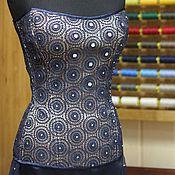 Одежда ручной работы. Ярмарка Мастеров - ручная работа Корсет кружевной на шелковом атласе. Handmade.