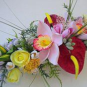 Цветы и флористика ручной работы. Ярмарка Мастеров - ручная работа Каравелла -  цветочная композиция. Handmade.