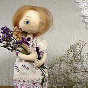 Куклы и игрушки ручной работы. Ярмарка Мастеров - ручная работа Кукла в сиреневом платье с лавандой в стиле прованс.. Handmade.