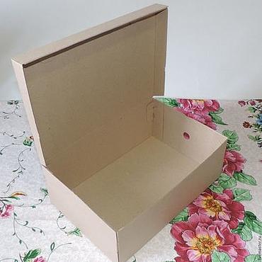 Материалы для творчества ручной работы. Ярмарка Мастеров - ручная работа Коробка микрогофрокартон тип обувная. Handmade.