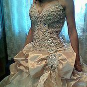 Свадебный салон ручной работы. Ярмарка Мастеров - ручная работа Платье свадебное с отстёгивающимся шлейфом. Handmade.