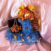 Сувениры и подарки ручной работы. Ярмарка Мастеров - ручная работа Золотая рыбка из конфет. Handmade.