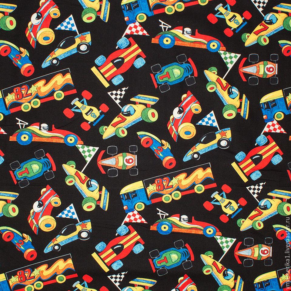 Ткань с рисунком машинки купить что такое полиэстер ткань для постельного белья