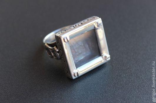 Кольцо ручной работы.  Перстень-Аквариум-2,серебро. Авторская пабота. Ggrigor.Ярмарка Мастеров.