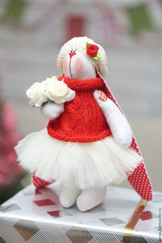 Куклы Тильды ручной работы. Ярмарка Мастеров - ручная работа. Купить Зайка Тильда игрушка интерьерная текстильная в пачке. Handmade.