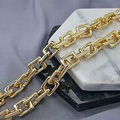 Материалы для творчества handmade. Livemaster - original item 25cm Chain 11mm (thickness) color gold (5292-Z). Handmade.