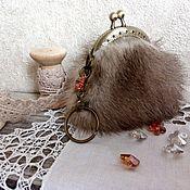 Сумки и аксессуары handmade. Livemaster - original item Mink fur keychain wallet with clasp. Handmade.