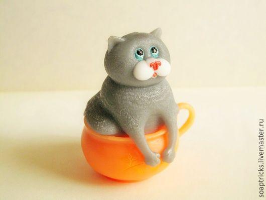 Мыло ручной работы. Ярмарка Мастеров - ручная работа. Купить Мыло Кот в чашке. Handmade. Кот, подарок на любой случай