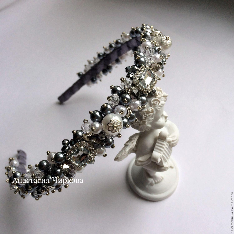 Свадебные украшения для волос из бусин