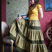 Одежда ручной работы. Ярмарка Мастеров - ручная работа Юбка хлопковая в стиле бохо. Handmade.