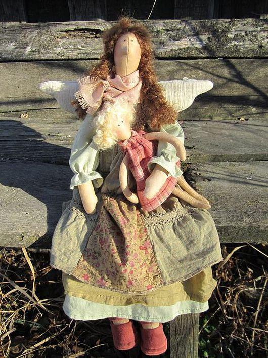 Коллекционные куклы ручной работы. Ярмарка Мастеров - ручная работа. Купить Феечка в стиле БОХО для Наталии. Handmade. Бохо, бязь