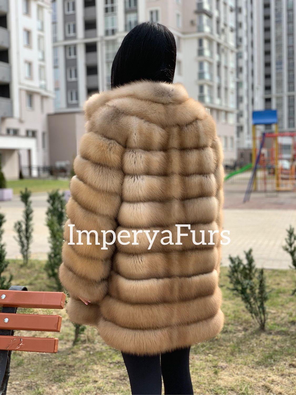 Шуба из меха лесной куницы!, Шубы, Москва,  Фото №1