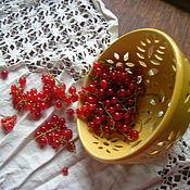 Посуда ручной работы. Ярмарка Мастеров - ручная работа Berry Bowl Цветик золотой. Handmade.