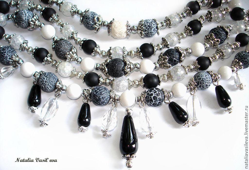 Bracelet 'Black and White', Bead bracelet, St. Petersburg,  Фото №1