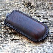 Сумки и аксессуары handmade. Livemaster - original item Leather phone case for number №1. Handmade.