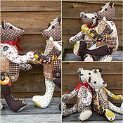 Куклы и игрушки ручной работы. Ярмарка Мастеров - ручная работа Мими-мишки - шоколадно-имбирные близнецы. Handmade.
