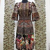 """Одежда ручной работы. Ярмарка Мастеров - ручная работа Авторское платье """"Барокко и цветы"""". Handmade."""