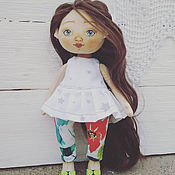Куклы и пупсы ручной работы. Ярмарка Мастеров - ручная работа Лапочка. Милая текстильная кукла.. Handmade.