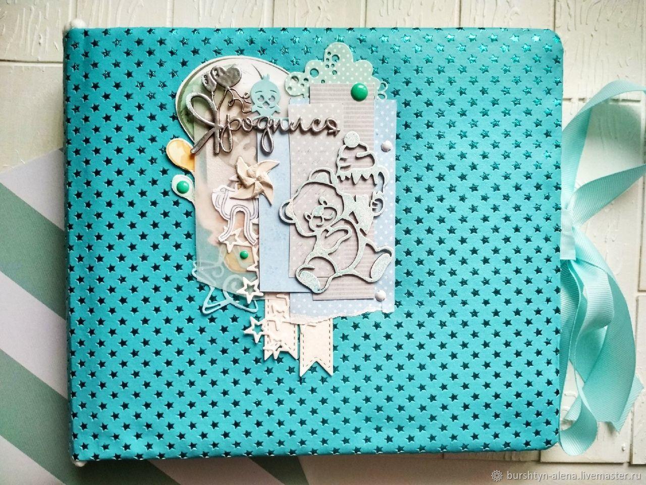 Детский фотоальбом для мальчика голубой, Фотоальбомы, Пинск,  Фото №1