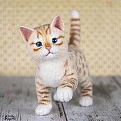 Куклы и игрушки ручной работы. Ярмарка Мастеров - ручная работа Рыжий котенок. Валяная игрушка. Копия работы. Handmade.