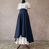 Одежда handmade. Livemaster - original item Wool skirt with corset belt. Handmade.