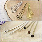 Материалы для творчества handmade. Livemaster - original item Metal pins in stock. Handmade.
