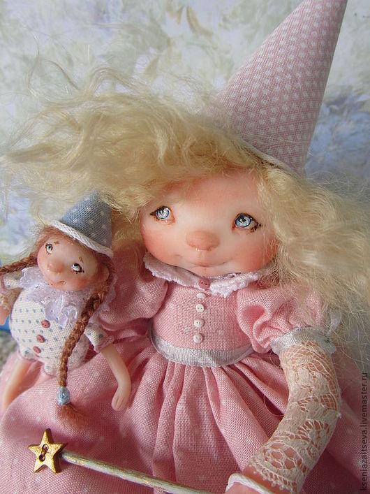 Коллекционные куклы ручной работы. Ярмарка Мастеров - ручная работа. Купить Волшебница Лу -для Татьяны. Handmade. Розовый, малышка, волшебница
